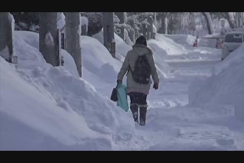 大雪市民生活に影響