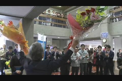 葛西弘前市長退任式