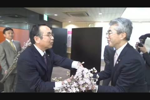 啓翁桜贈呈式