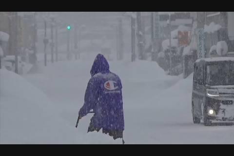 大雪警報発表