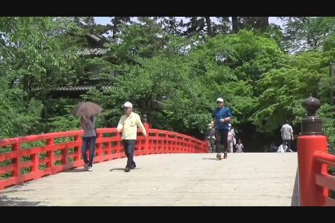 賑わう弘前公園